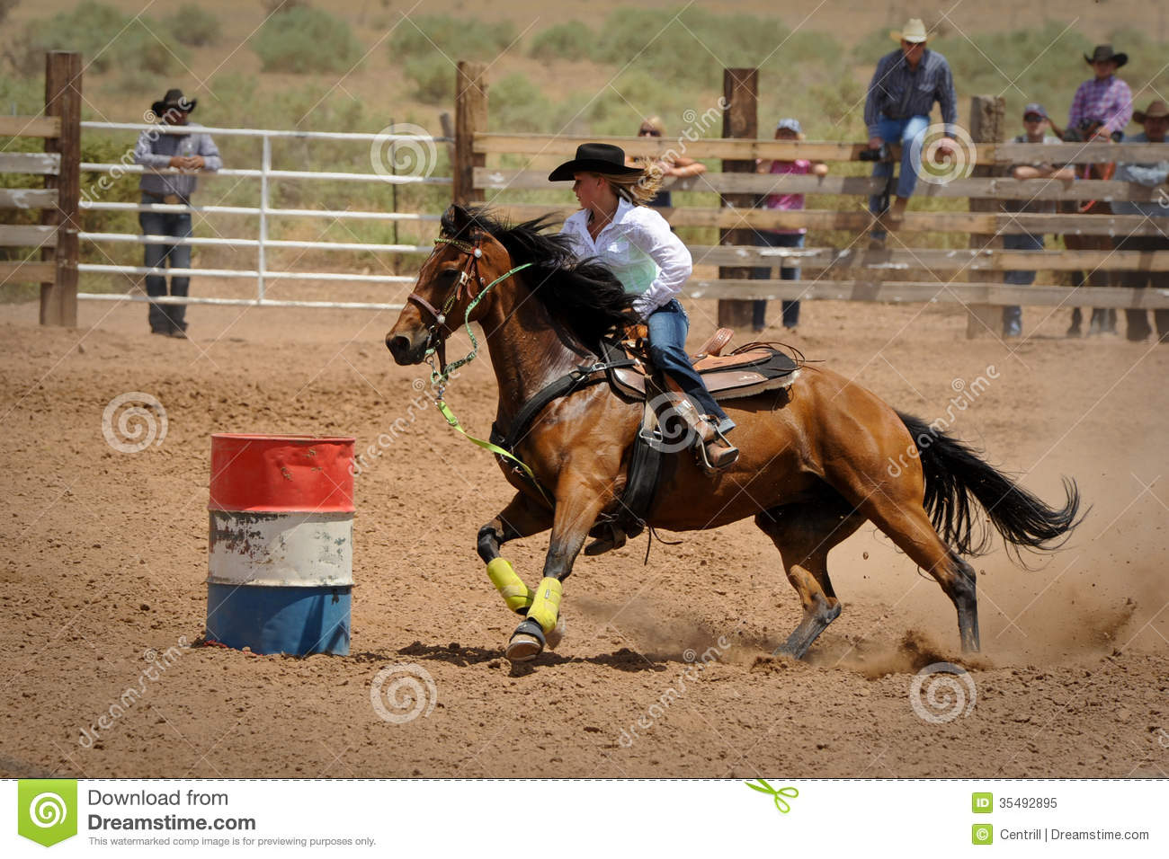 Rodeo Barrel Racing Editorial Image Image 35492895