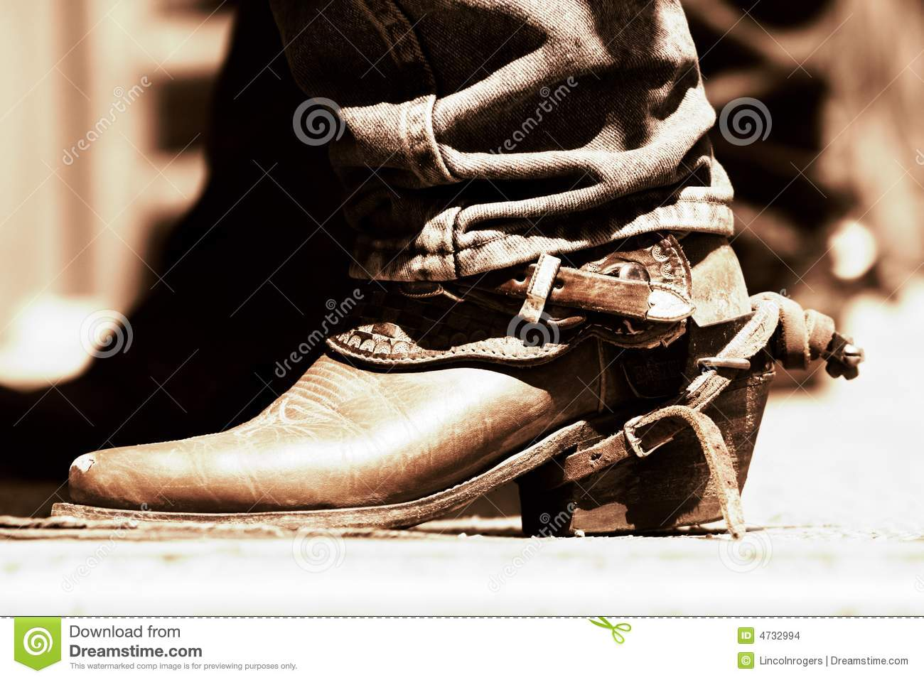 Rodeo Boot Spur Copper Tone Stock Photo Image Of Clothing