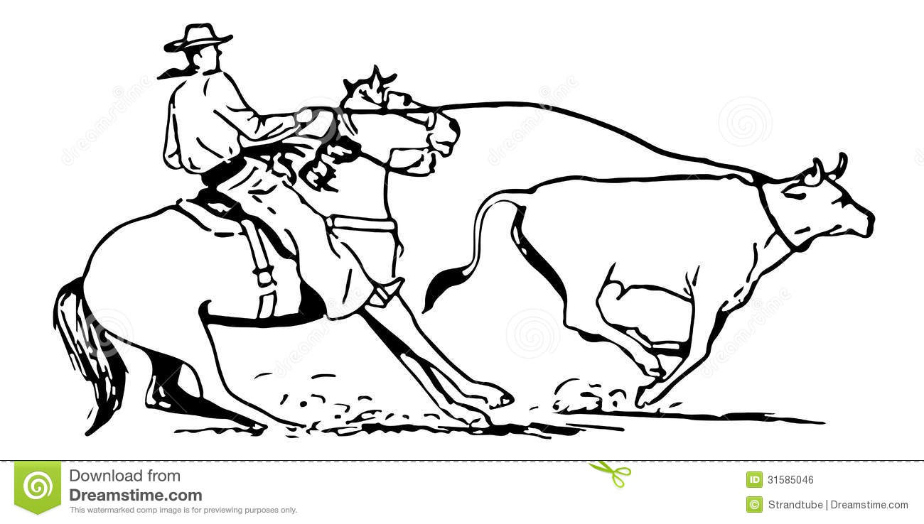 team roping coloring pages - photo#32