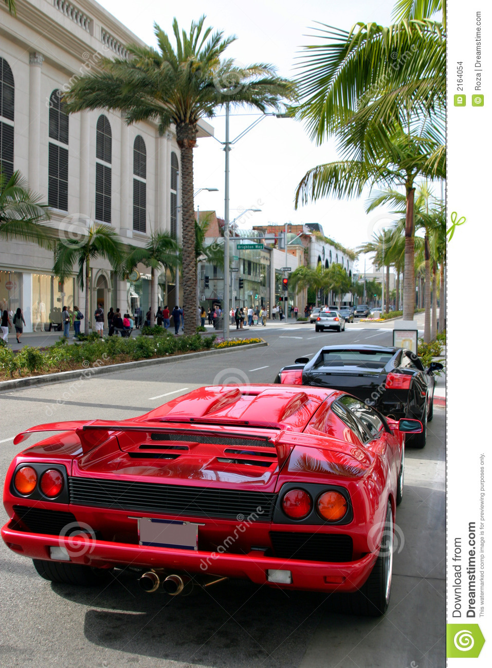 Rodeo Drive Beverly Hills Ca Editorial Stock Image