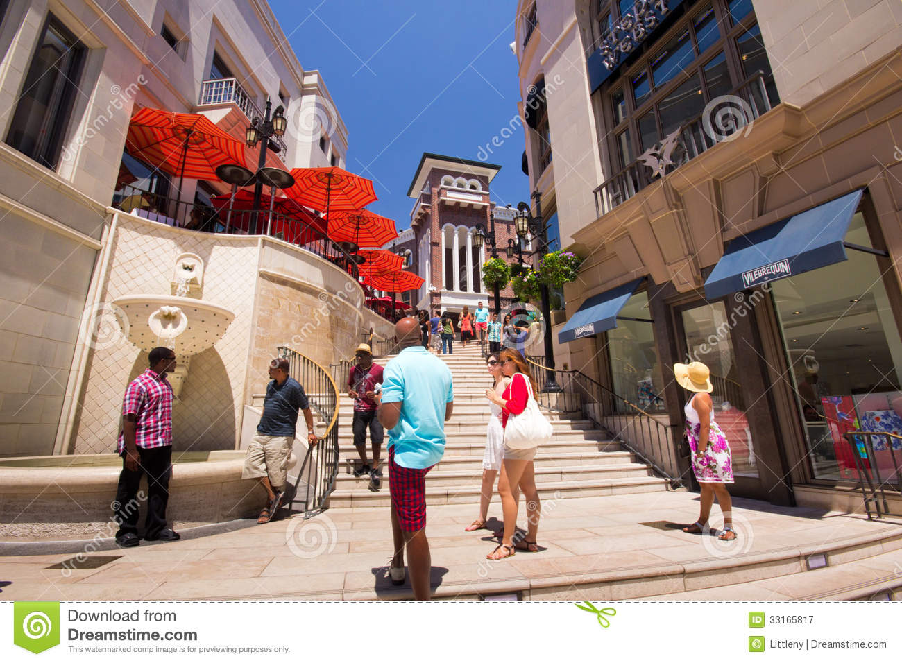 Rodeo Drive Beverly Hills Editorial Photography Image Of