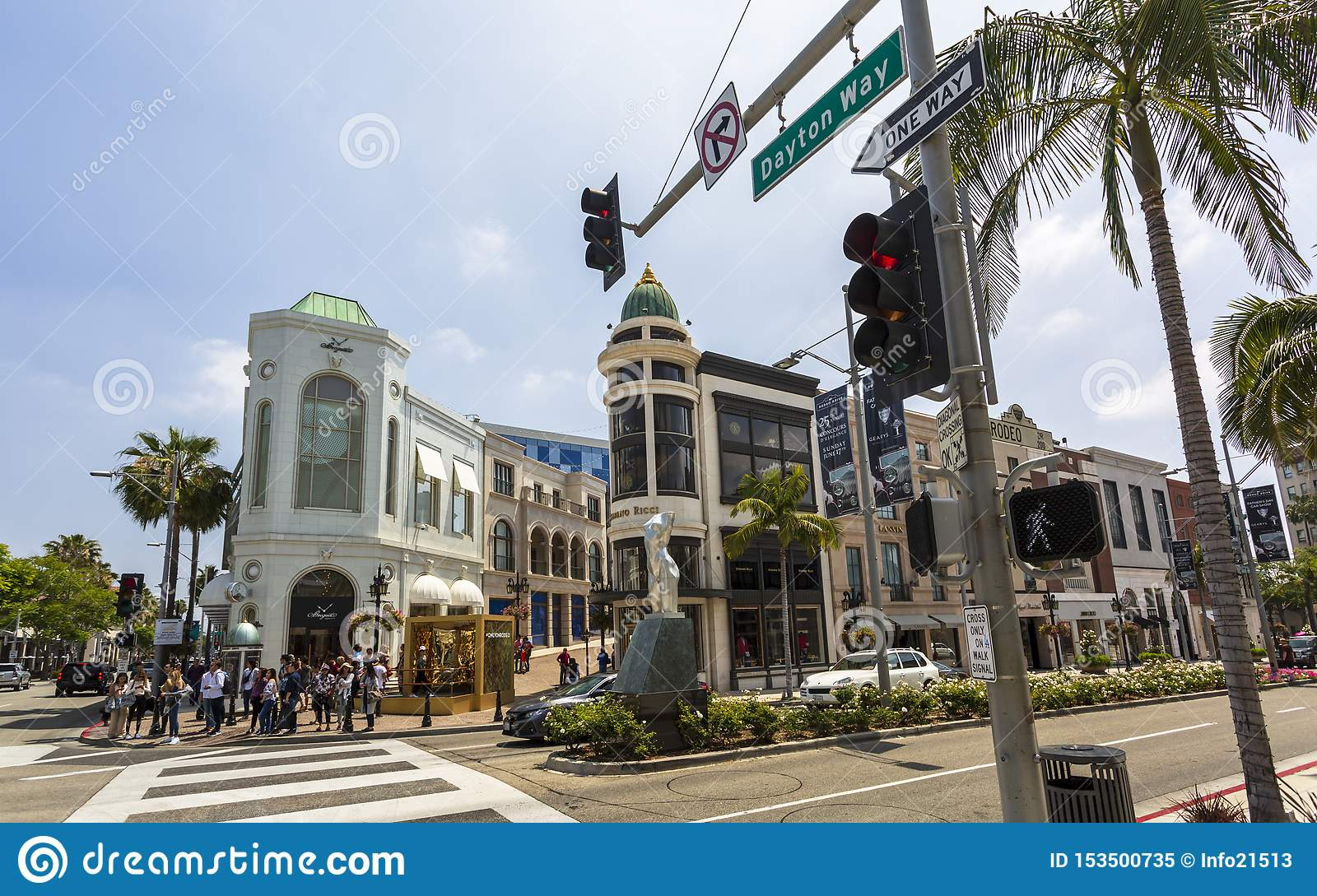 Rodeo Drive, Beverly Hills, Los Angeles, California, los Estados Unidos de América, Norteamérica