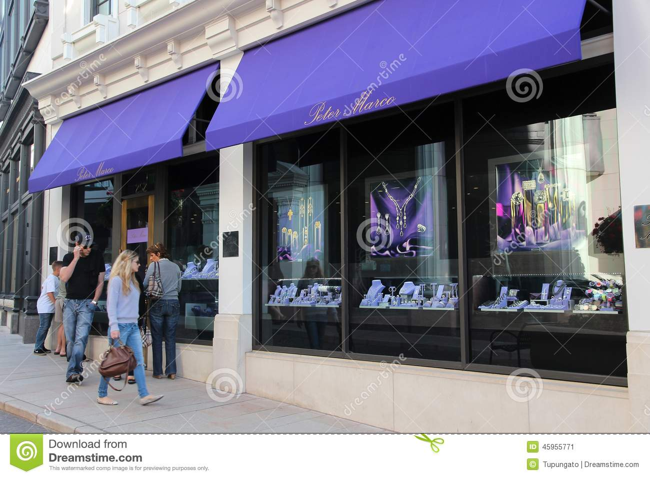 Rodeo drive beverly hills editorial photo image of for August jewelry store los angeles