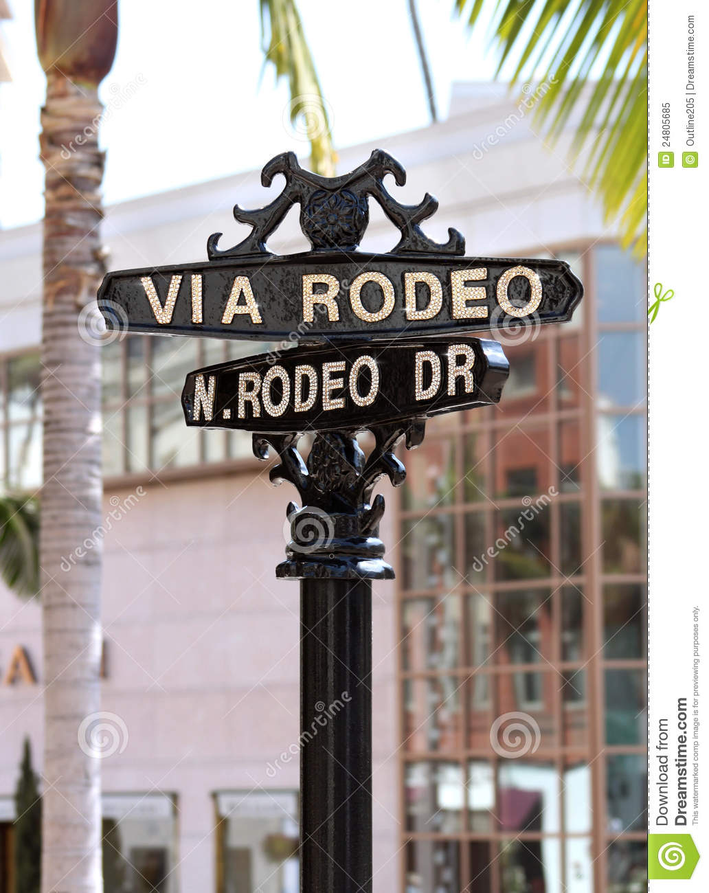 Rodeo Drive Street Sign Beverly Hills Editorial Image