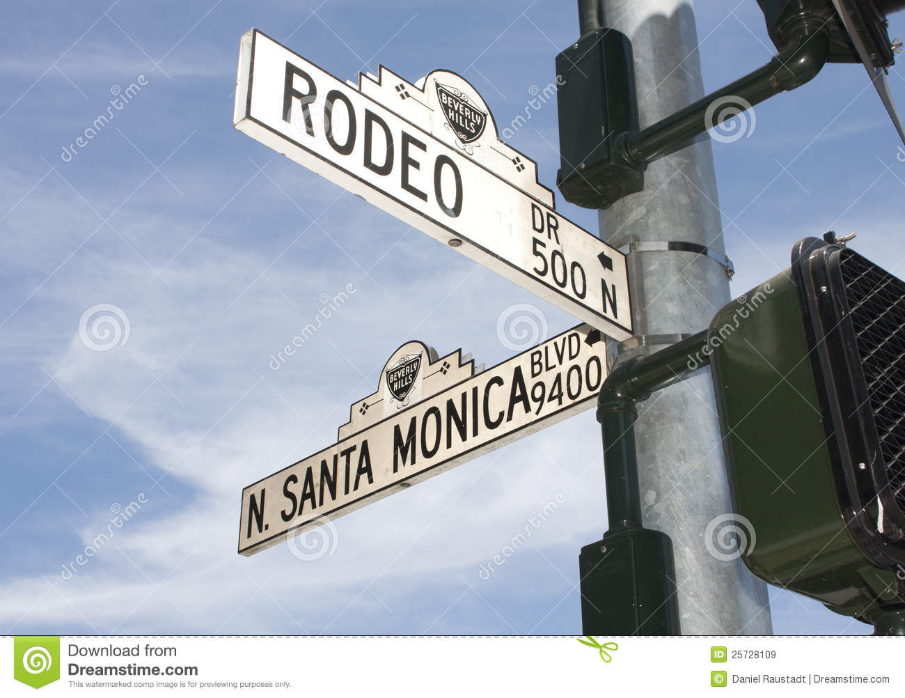 Rodeo Drive Street Sign In Beverly Hills Ca Editorial
