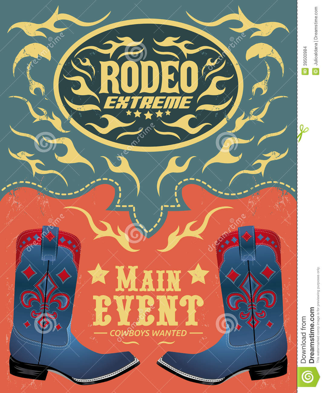 Rodeo Extreme - Cowboy event poster