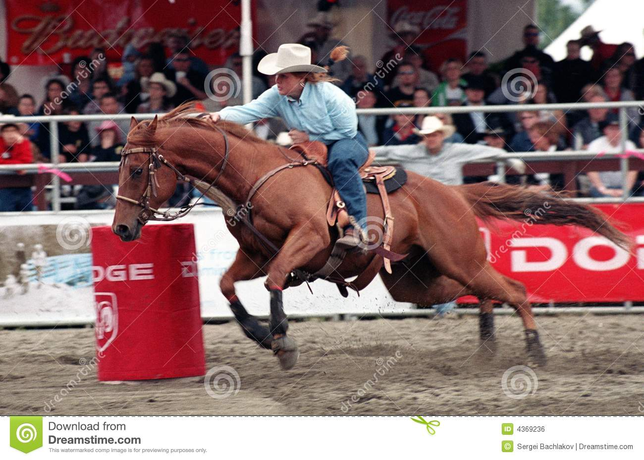 Rodeo Ladies Barrel Racing Editorial Photo Image Of