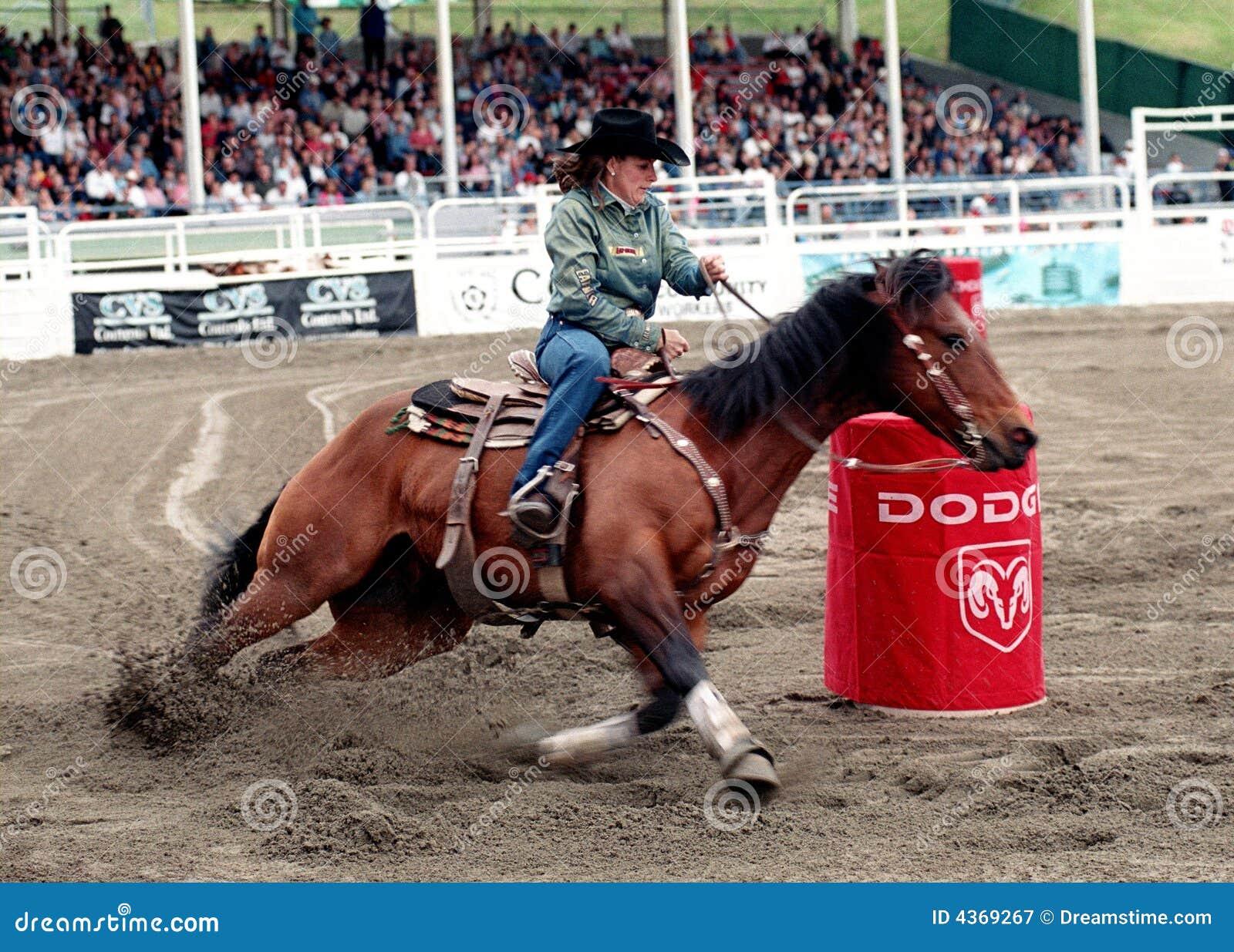 Rodeo: Ladies Barrel Racing Editorial Image - Image: 4369685
