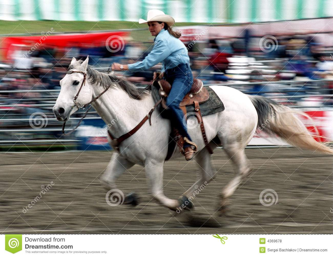 Young Rodeo Princess Barrel Racing For The First Time High