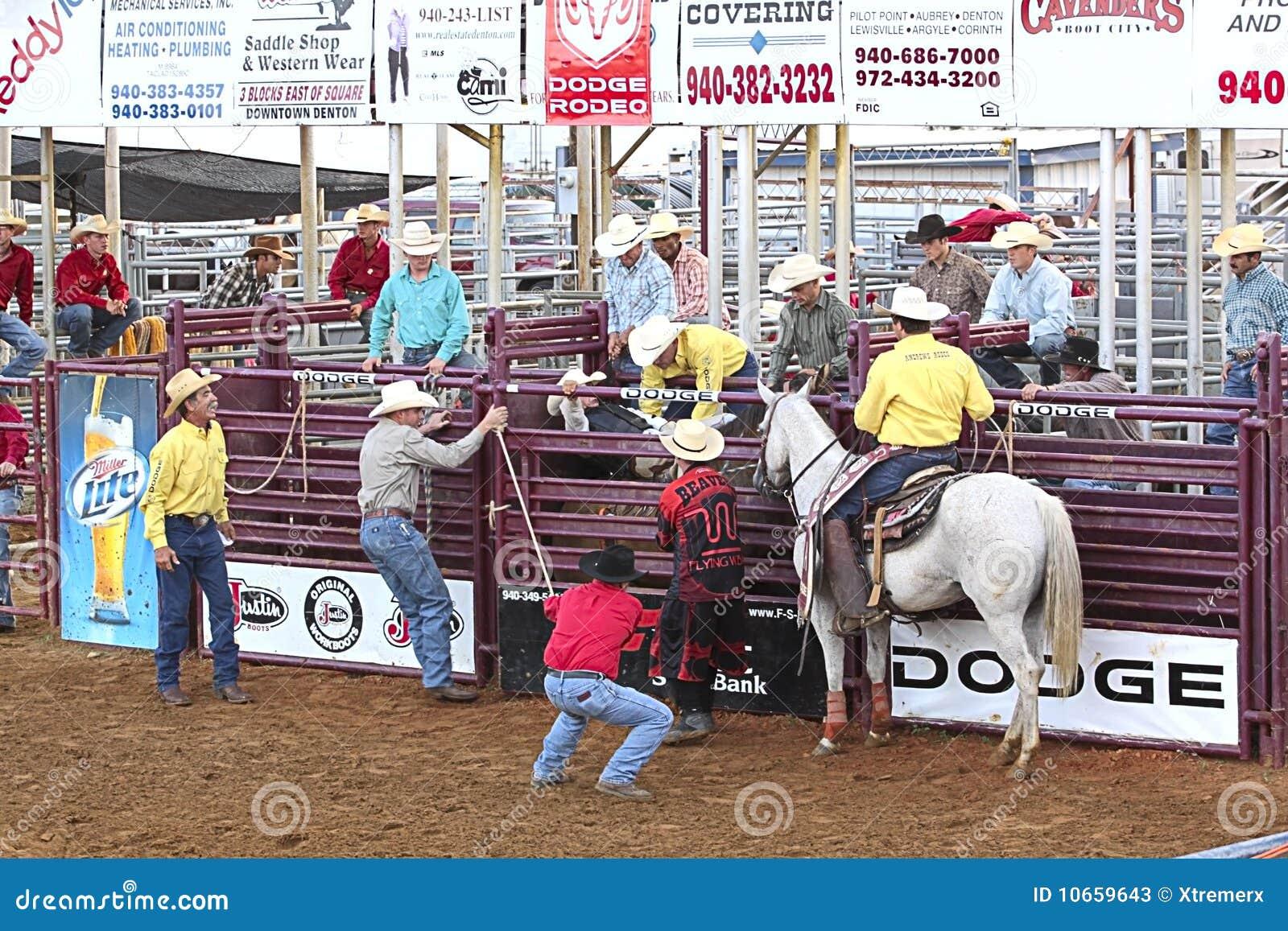 Rodeo Scene Editorial Stock Photo Image 10659643