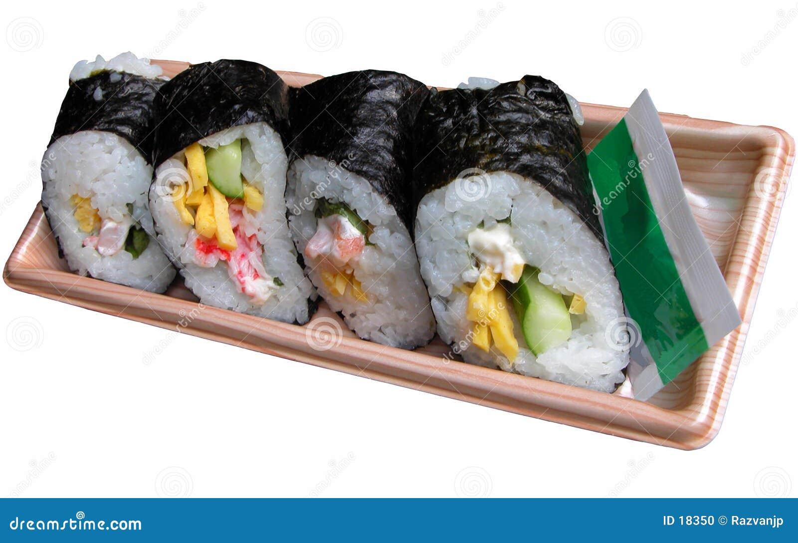 Rodillos japoneses del arroz