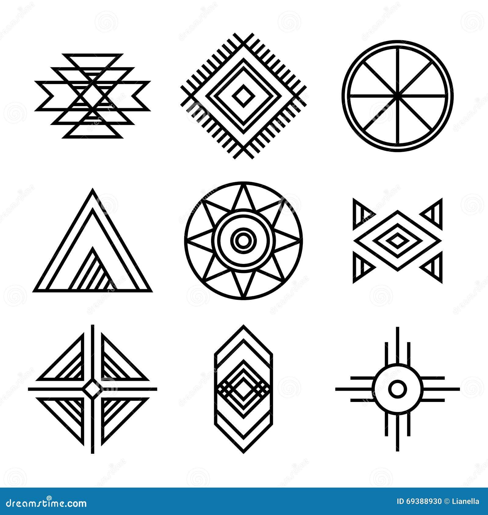 Rodowitych Amerykan indianów Plemienni symbole