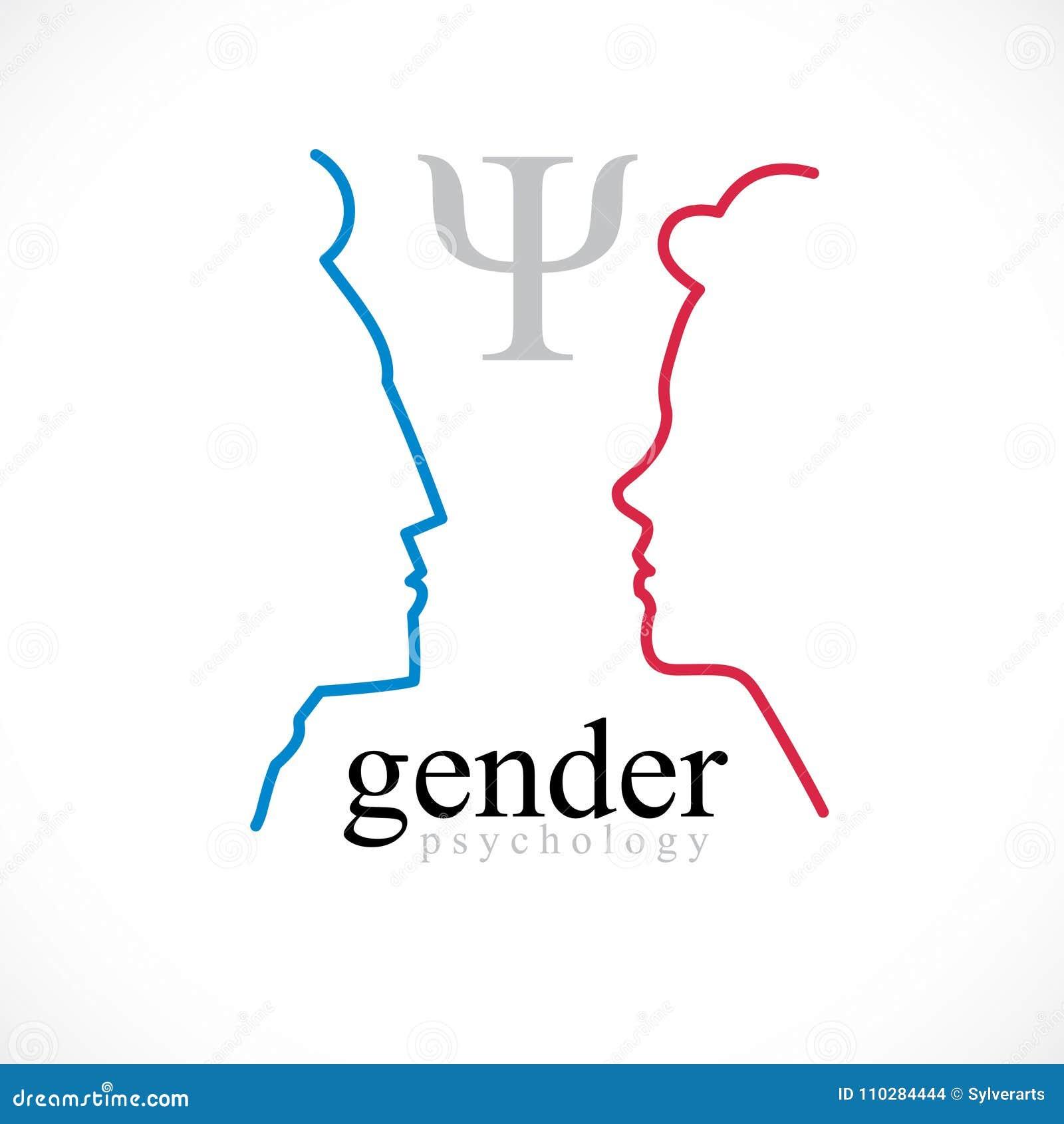 Rodzaj psychologii pojęcie tworzący z mężczyzna i kobiety głów profi