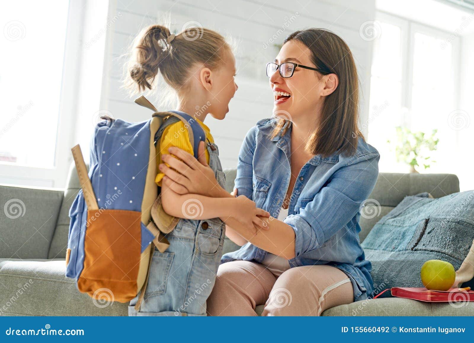 Rodzic i uczeń preschool
