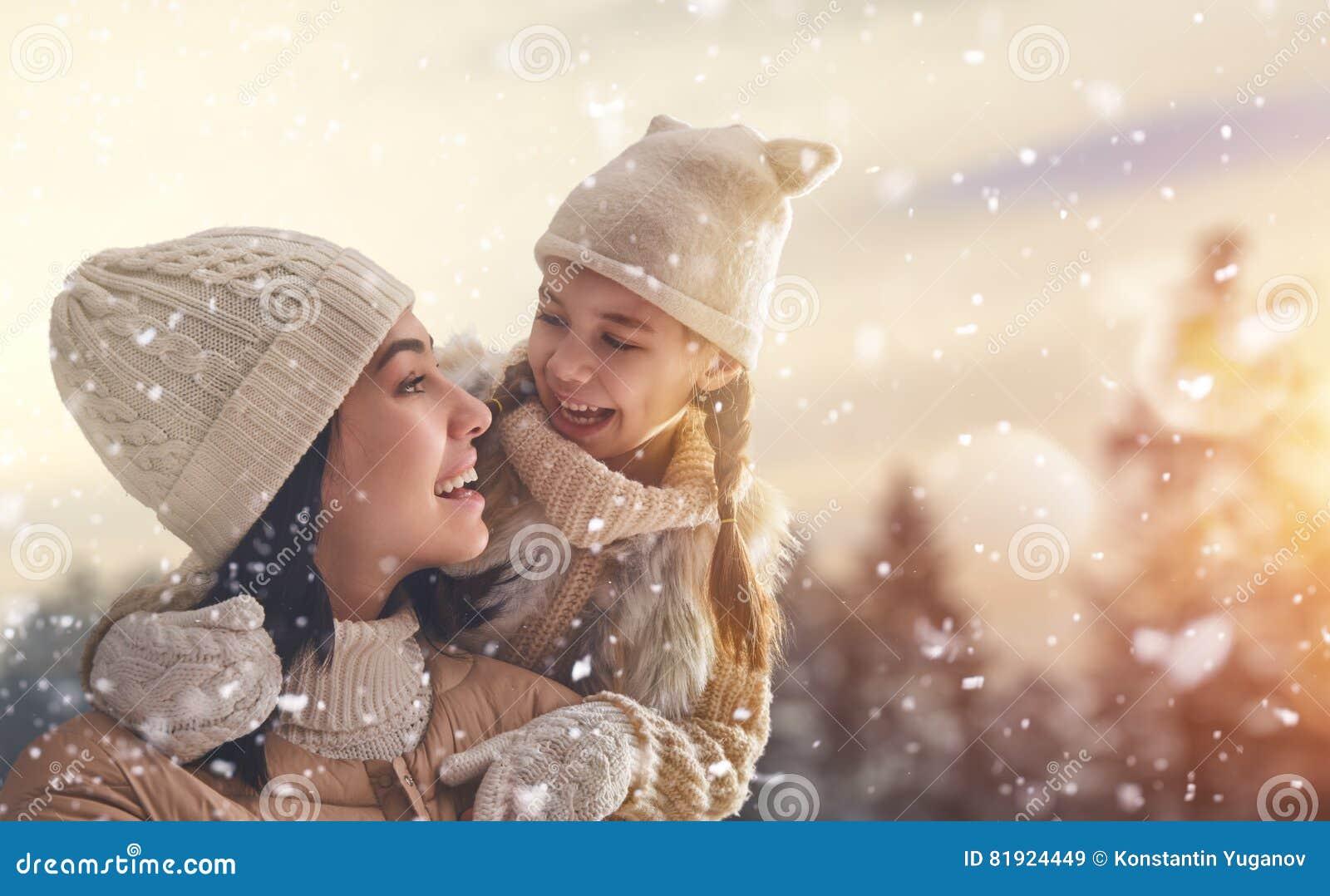 Rodzina i zima sezon