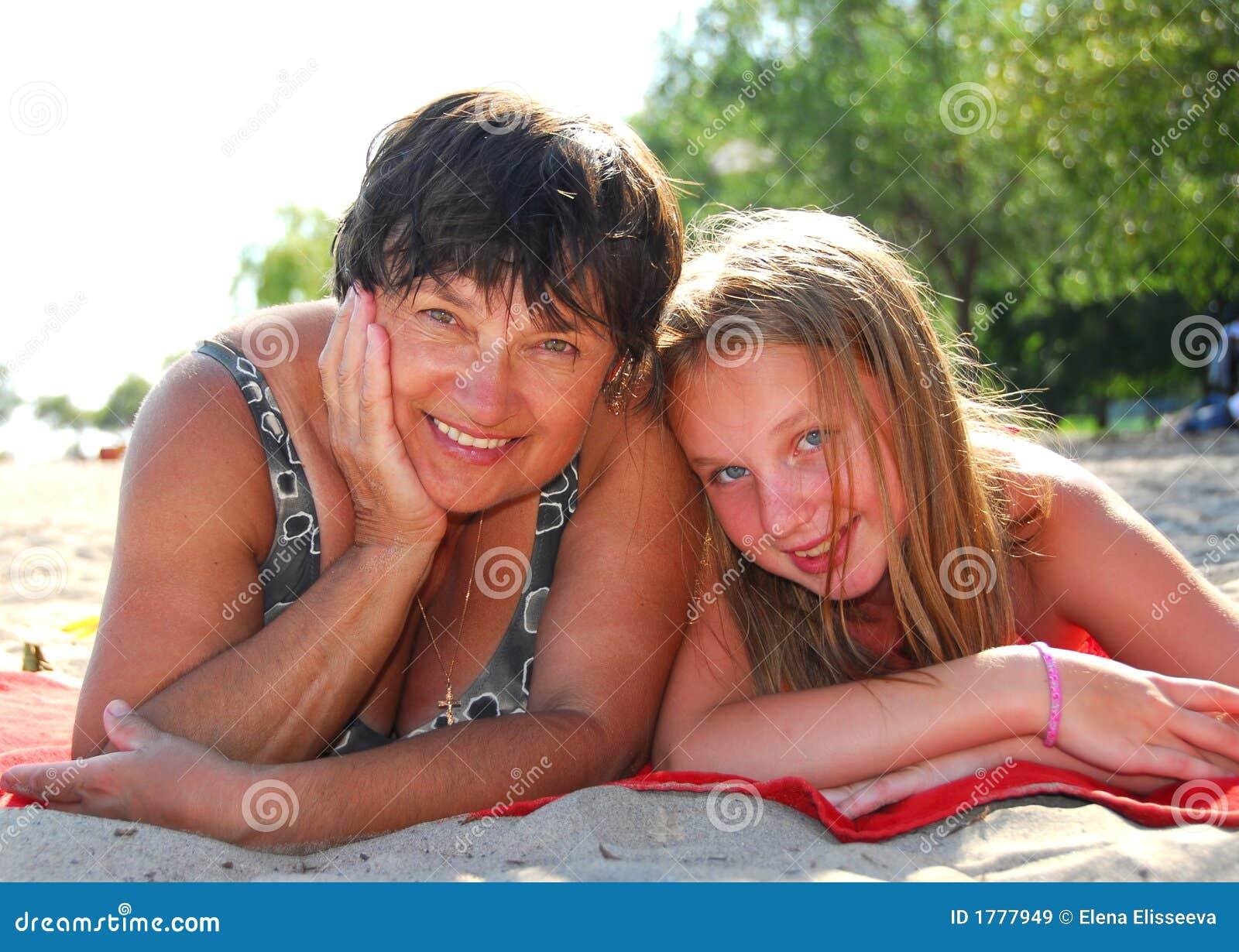 Rodzina plażowa