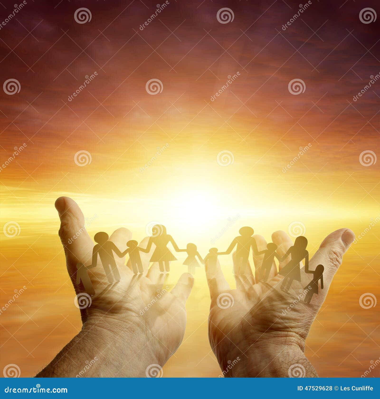 Rodzina w rękach