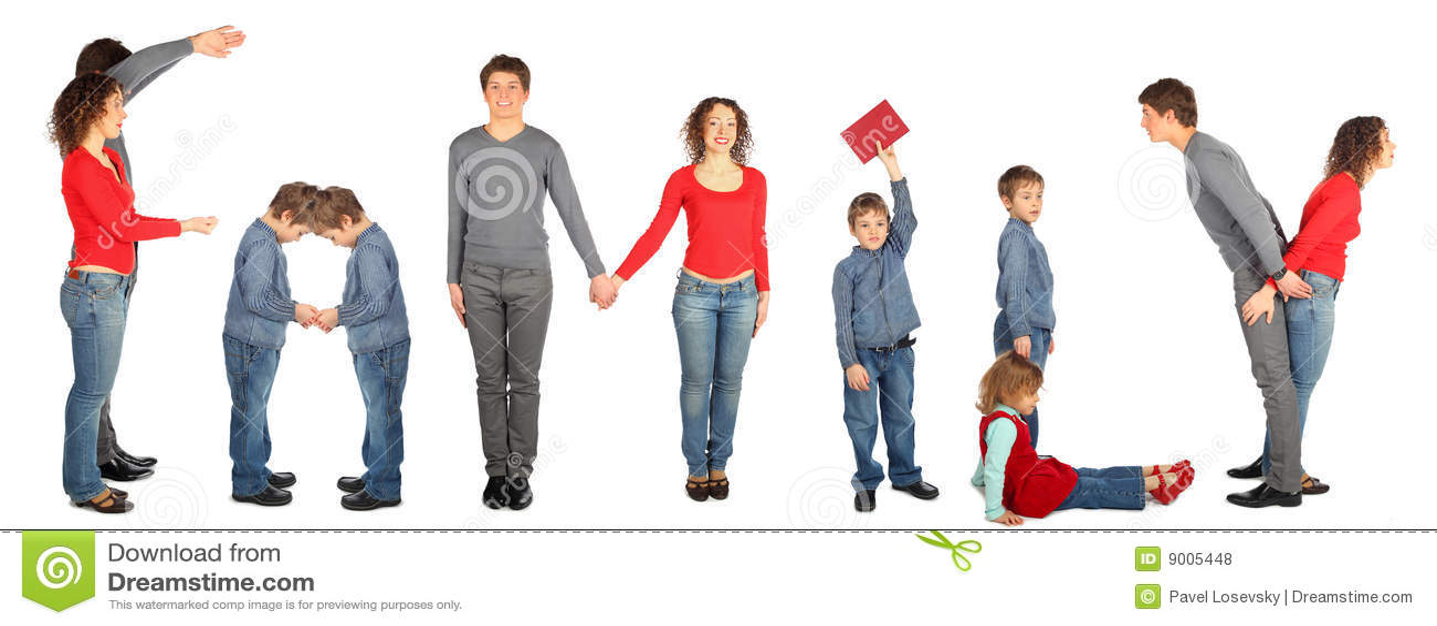 Rodzinny kolażu słowo
