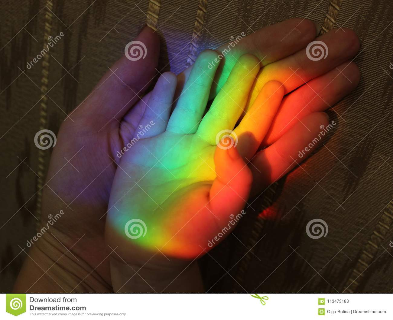 Rodziny tęcza i ręki