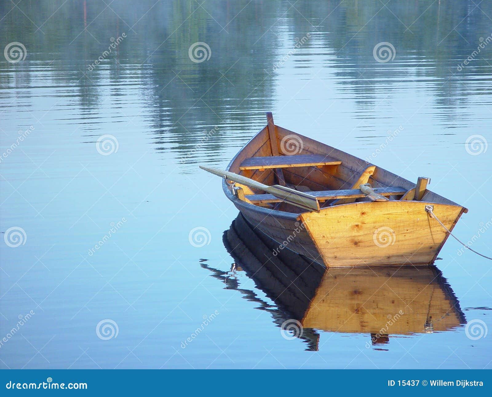 Roeiende boot
