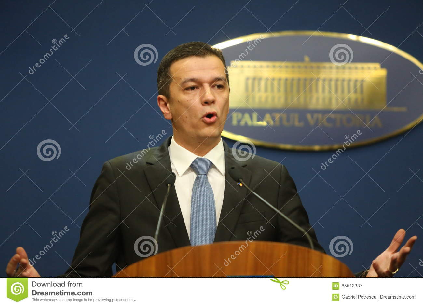 Roemeense Eerste minister Sorin Grindeanu
