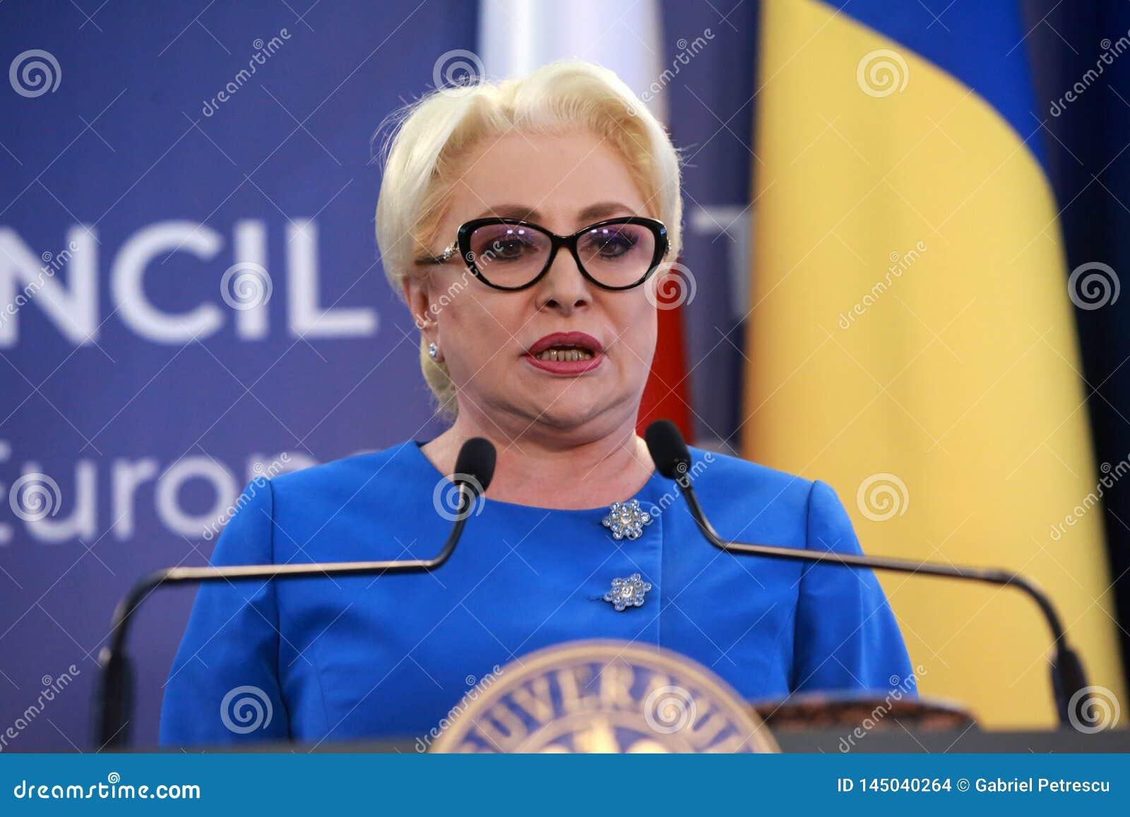 Roemeense Eerste minister Viorica Dancila