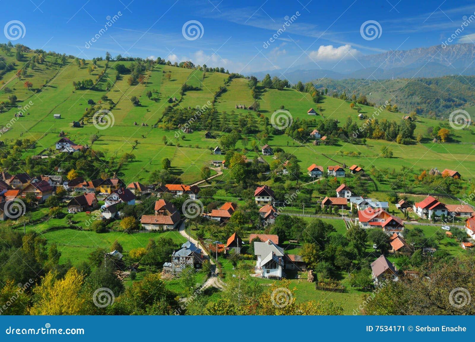 Roemeense helling en stad