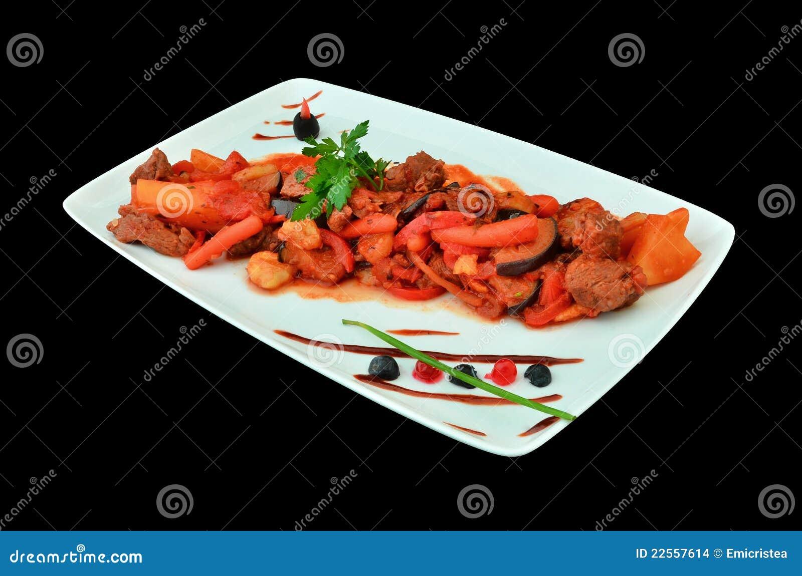 Roemeense keuken rundvlees met groenten en saus stock afbeeldingen afbeelding 22557614 - Traditionele keukens ...