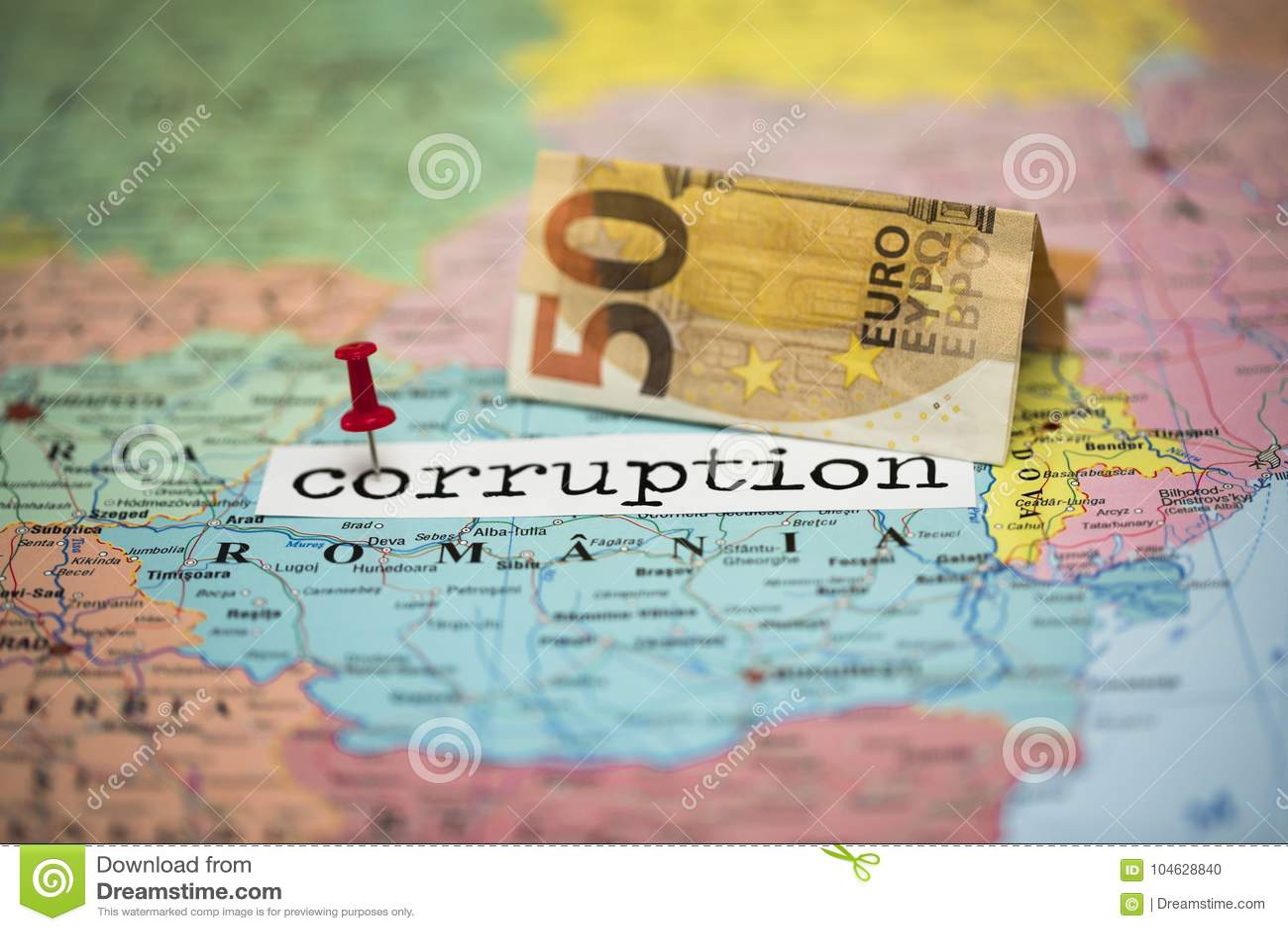 Download Roemenië, Een Land Waar De Corruptie In De Bovenkant Is Stock Foto - Afbeelding bestaande uit genaturaliseerd, achtergrond: 104628840