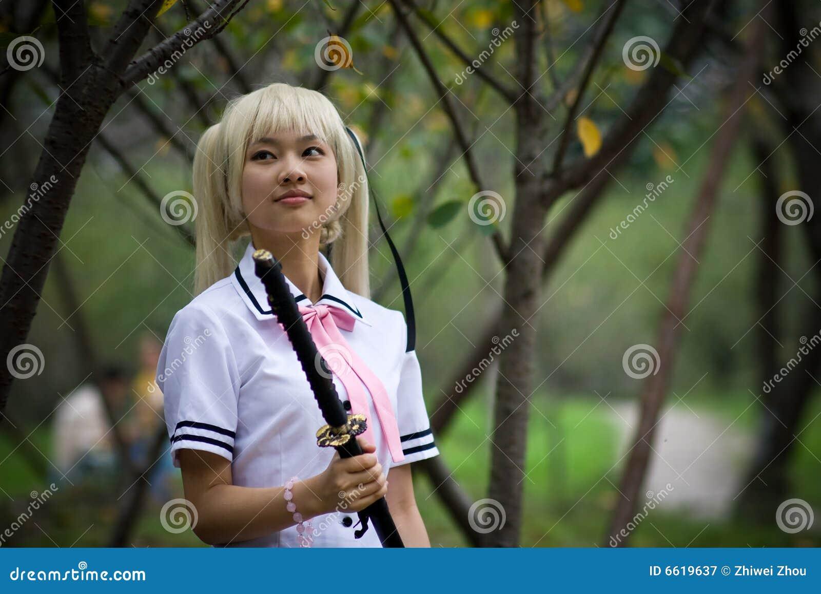 Roerend samoeraienmeisje