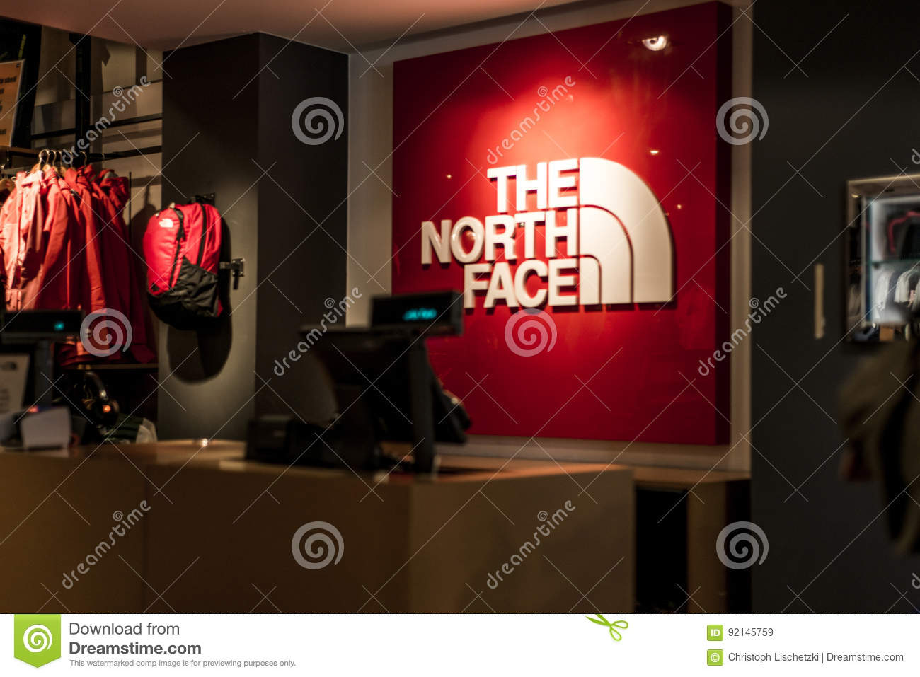 new concept b719c 80d81 Roermond, Netherlands 07.05.2017 Logo Of The North Face ...
