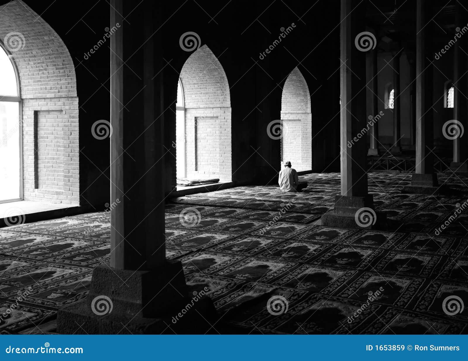Rogación en una mezquita