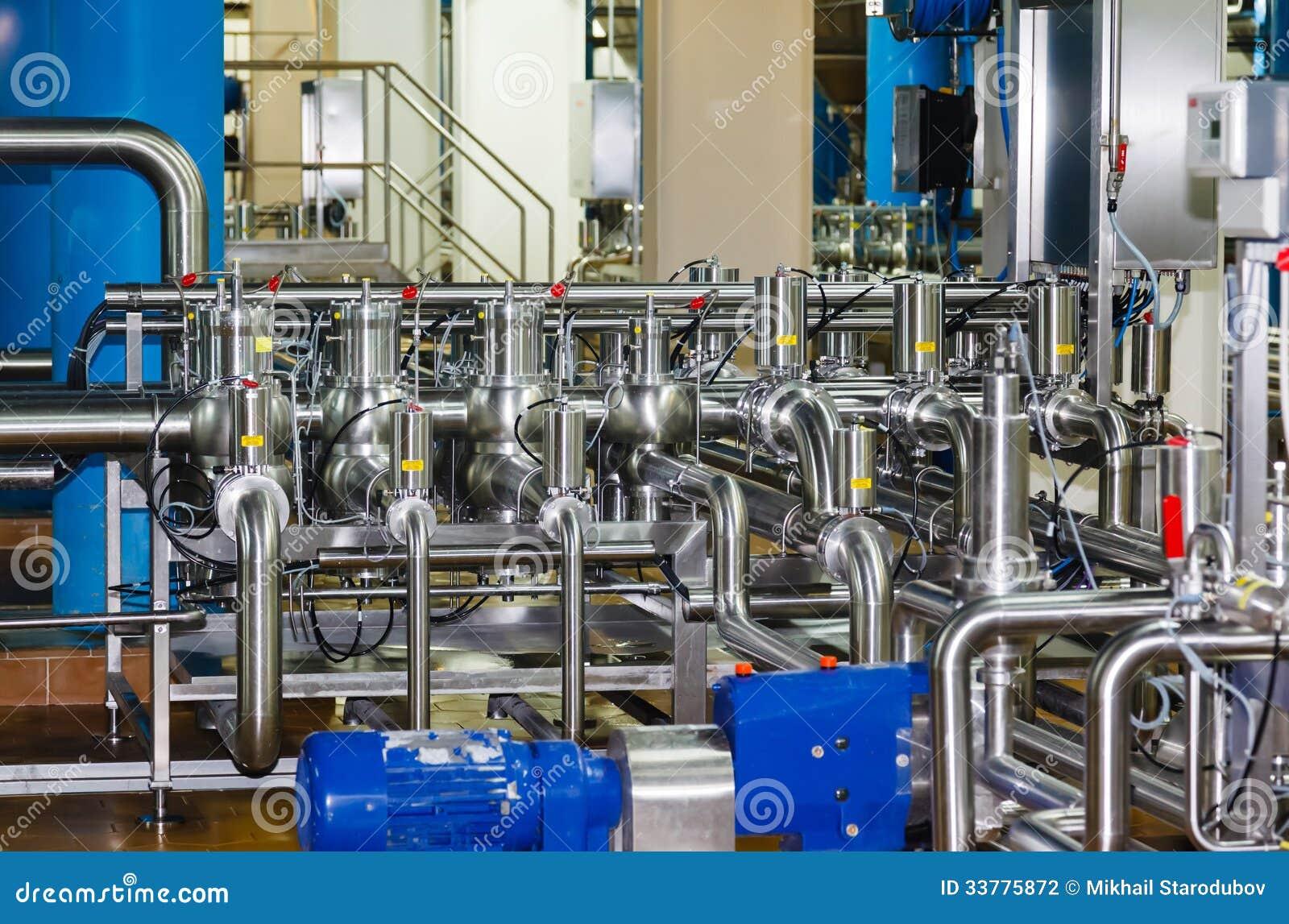 Rohre, Behälter für die Lebensmittelindustrie