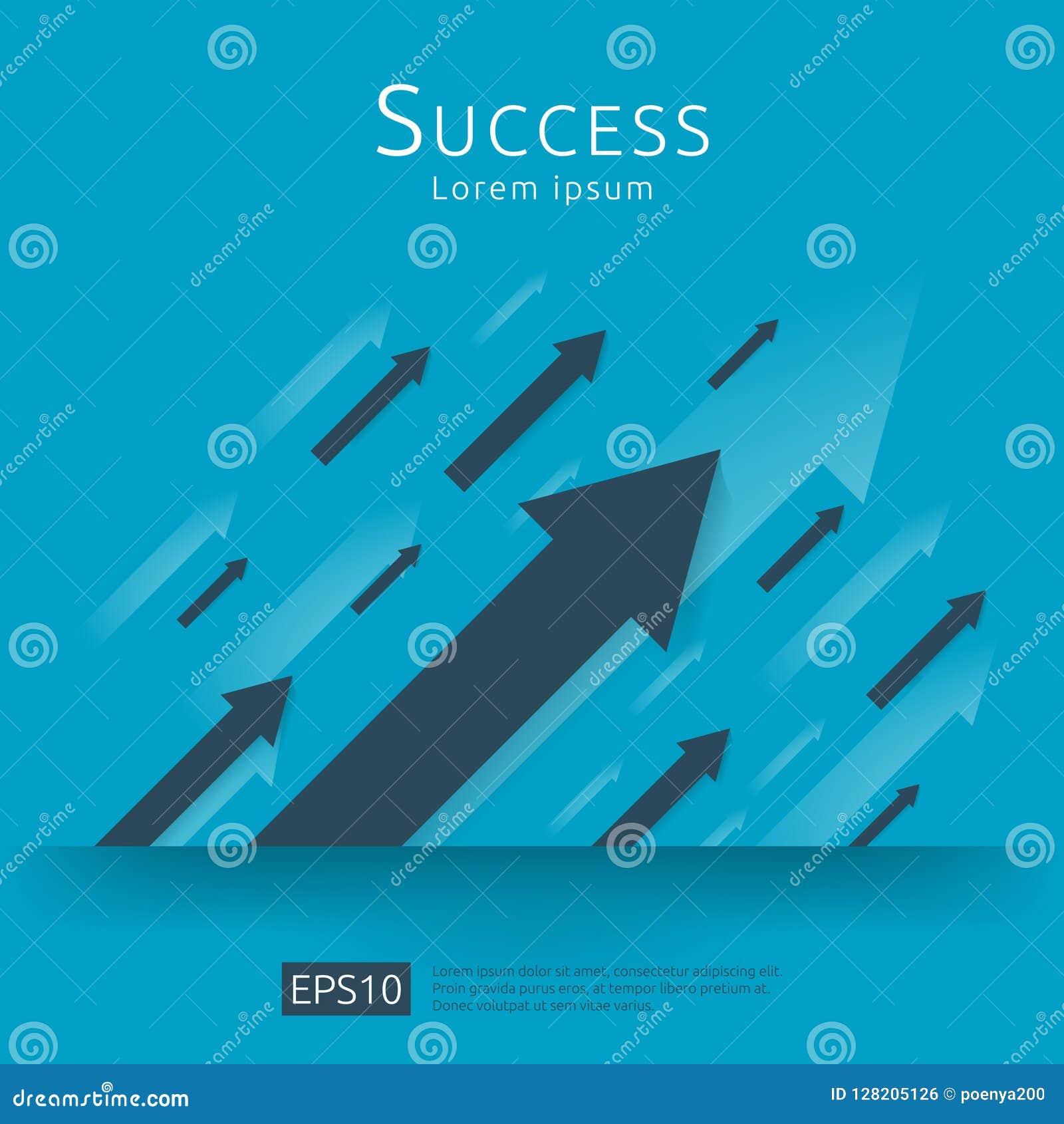 ROI概念的回收投资 企业对成功的成长箭头 美元堆堆硬币和金钱袋子 图增量赢利