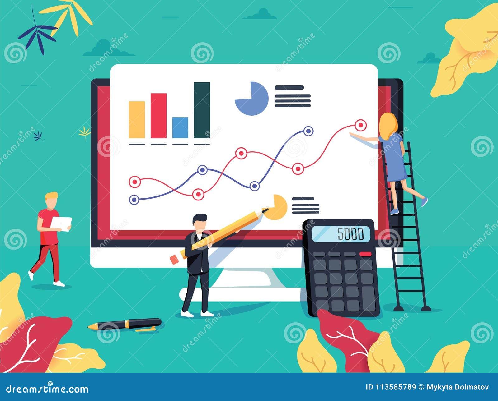 ROI Concept Rendement van investering ROI-bedrijfs marketing Profi