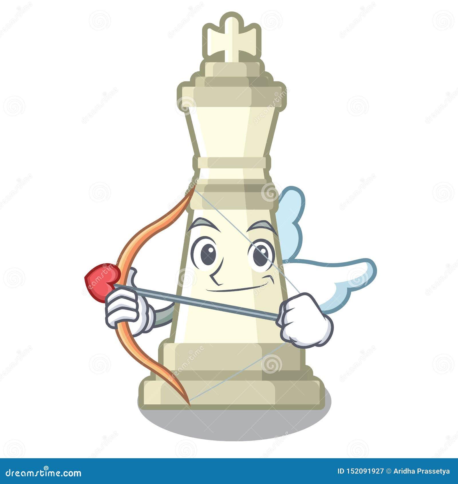 Roi d échecs de cupidon d isolement dans le caractère