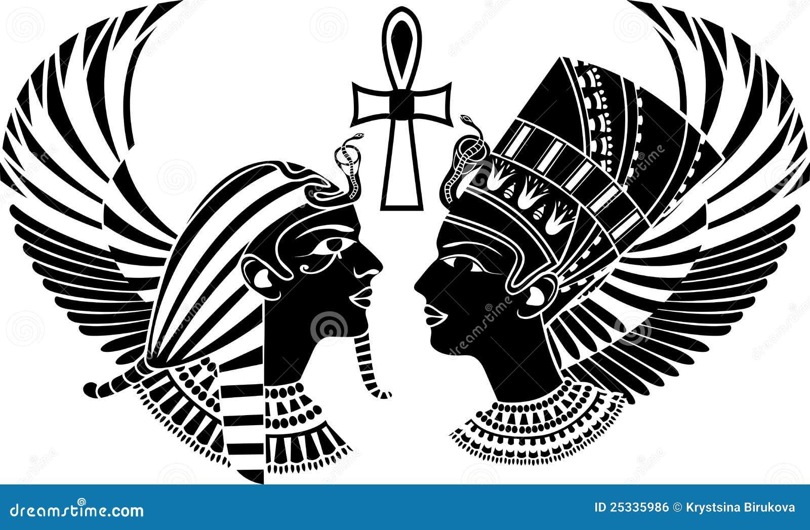 Roi et reine antiques de l Egypte