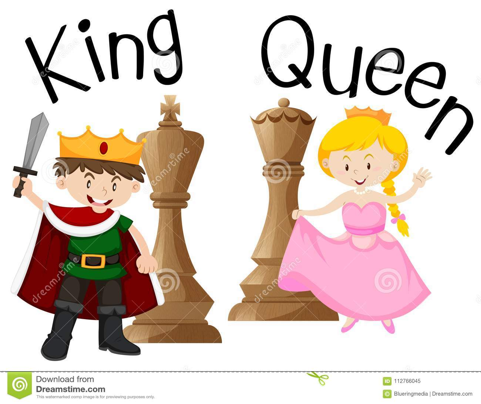 Roi et reine avec le jeu d échecs