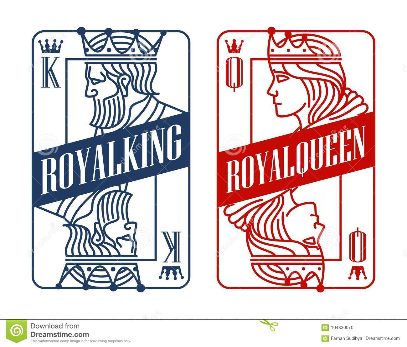 Roi et Reine jouant la carte