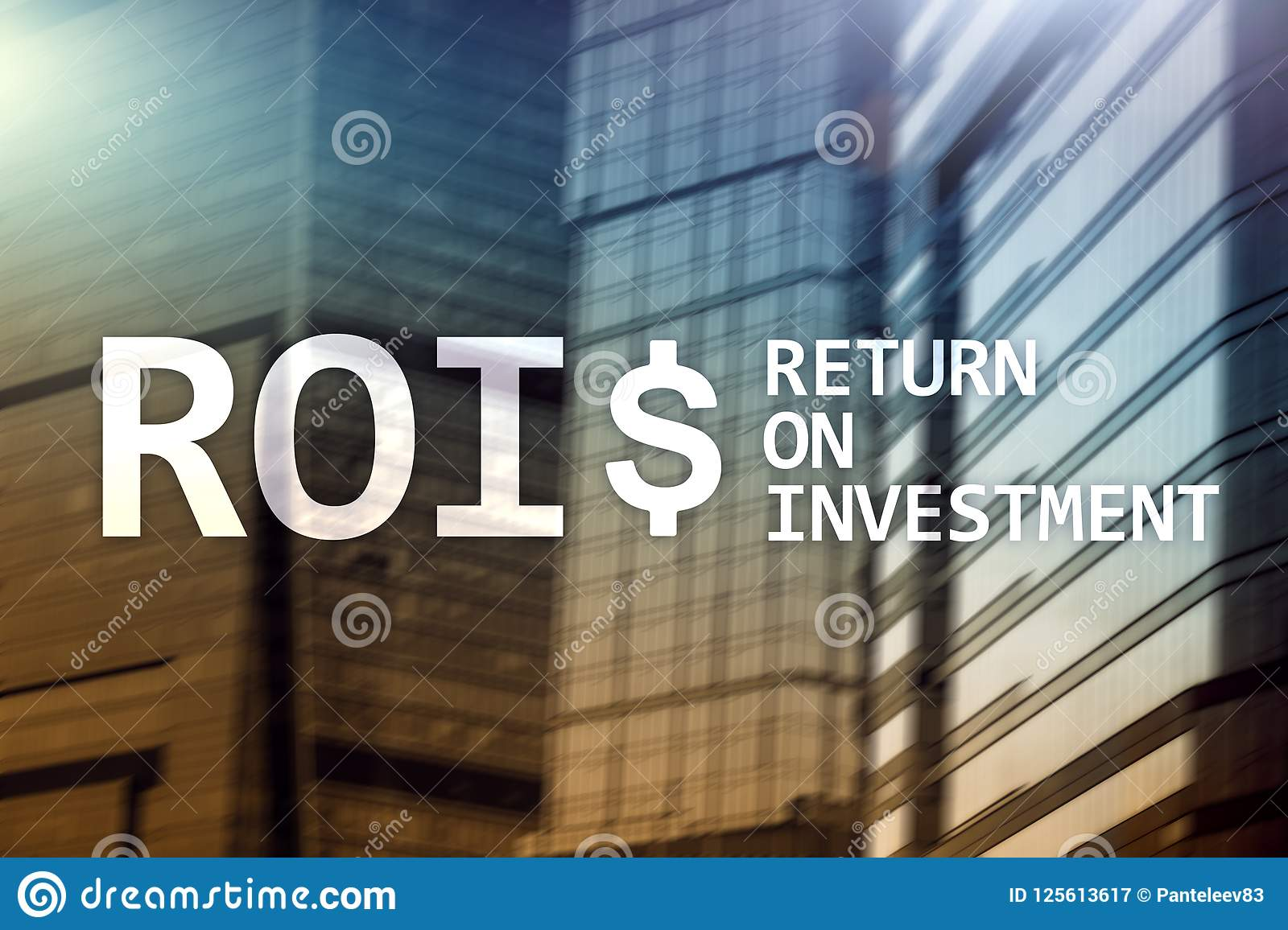 ROI - Return on investment, Financial market and stock trading concept