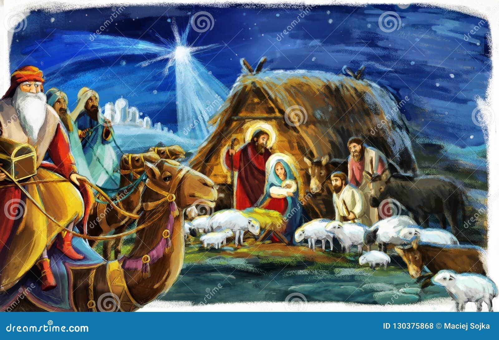 Rois religieux de l illustration trois - et famille sainte - tradition