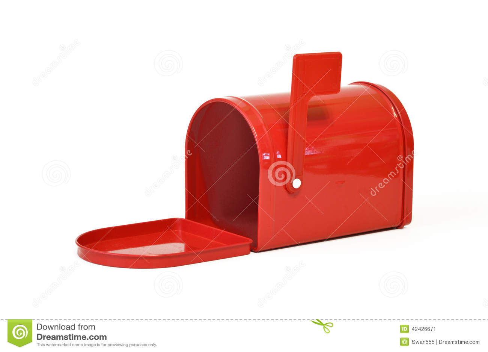 Rojo, correo, caja