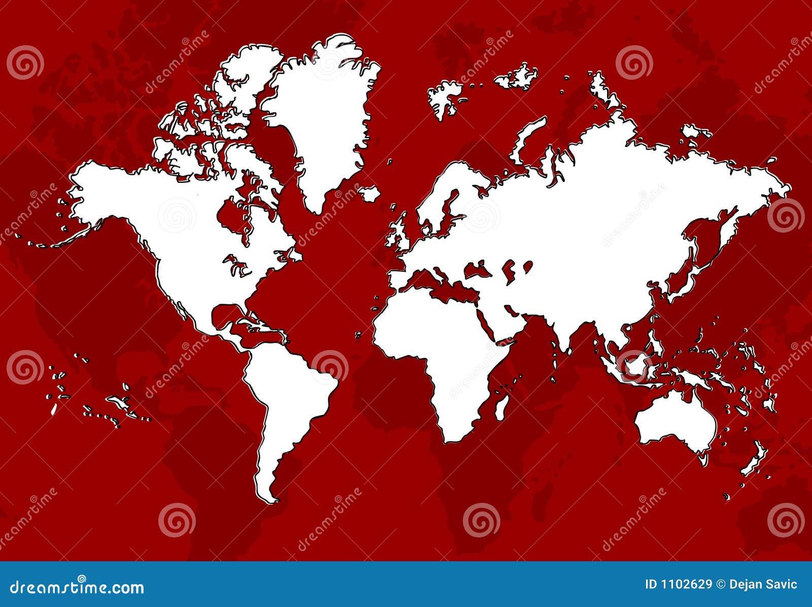 Rojo de la correspondencia de mundo