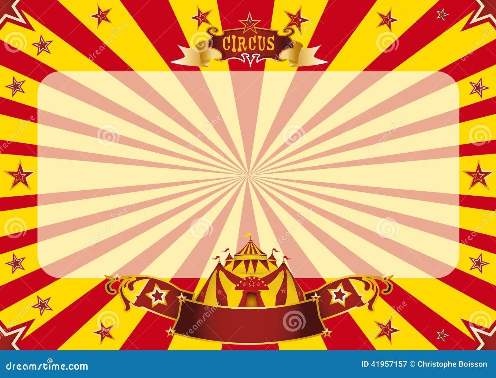 Rojo del circo y amarillo horizontales