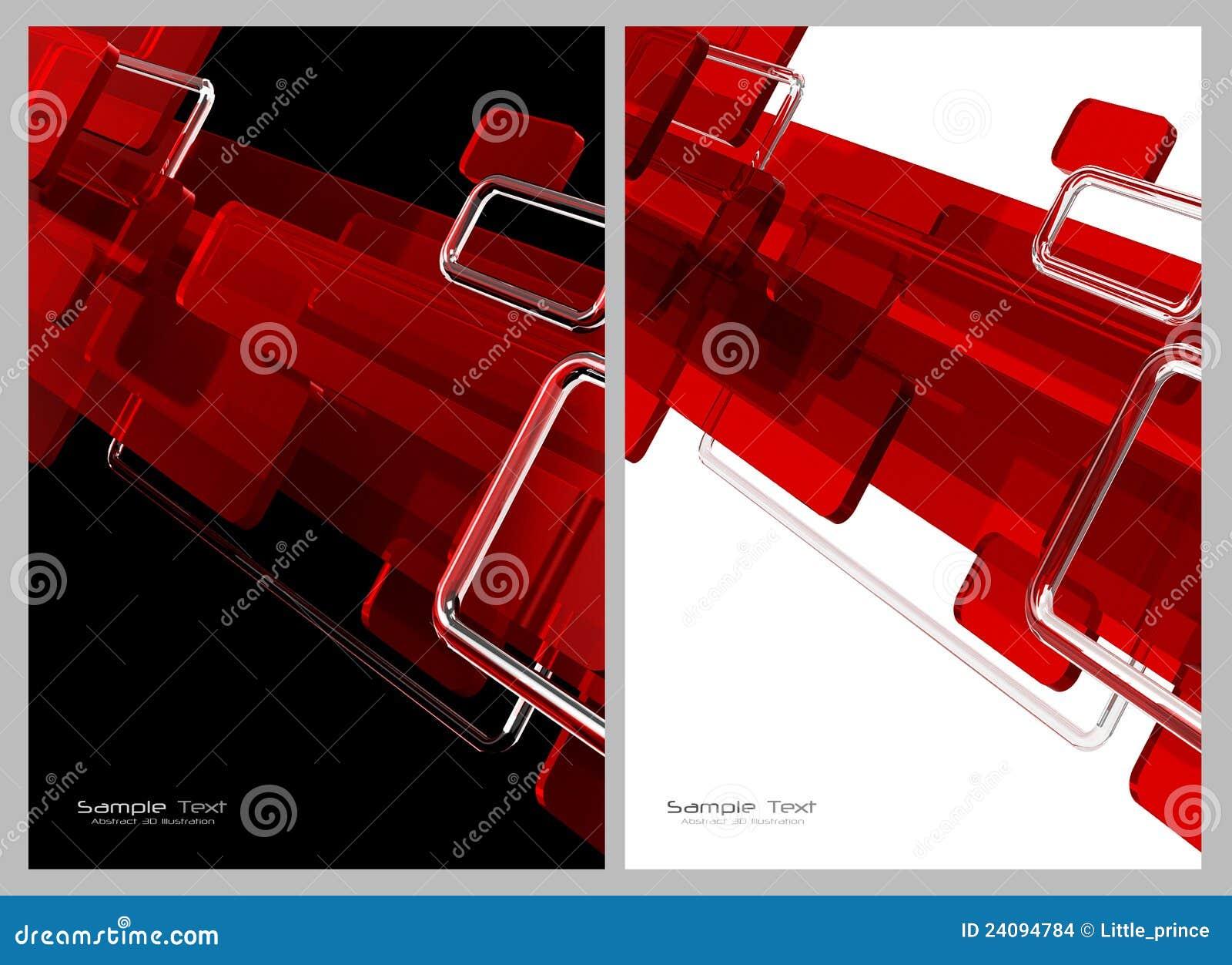 Rojo Fondo Abstracto Blanco Y Negro Stock De Ilustraci N