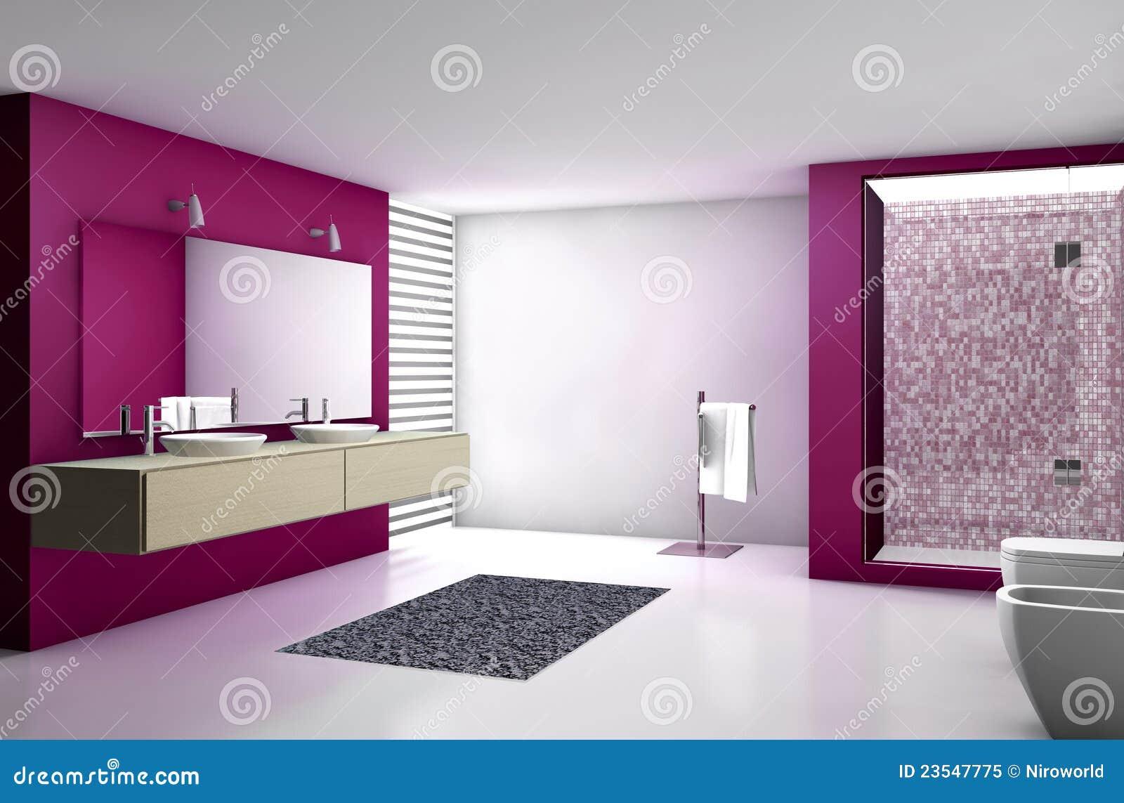 Rojo moderno del cuarto de ba o imagen de archivo imagen - Fotos cuartos de bano ...