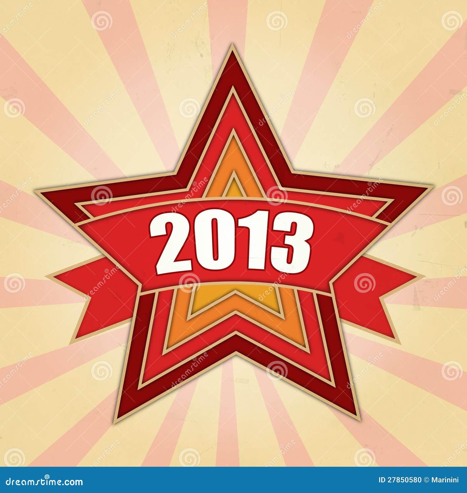 Rok 2013 w czerwonych gwiazdach i promieniach