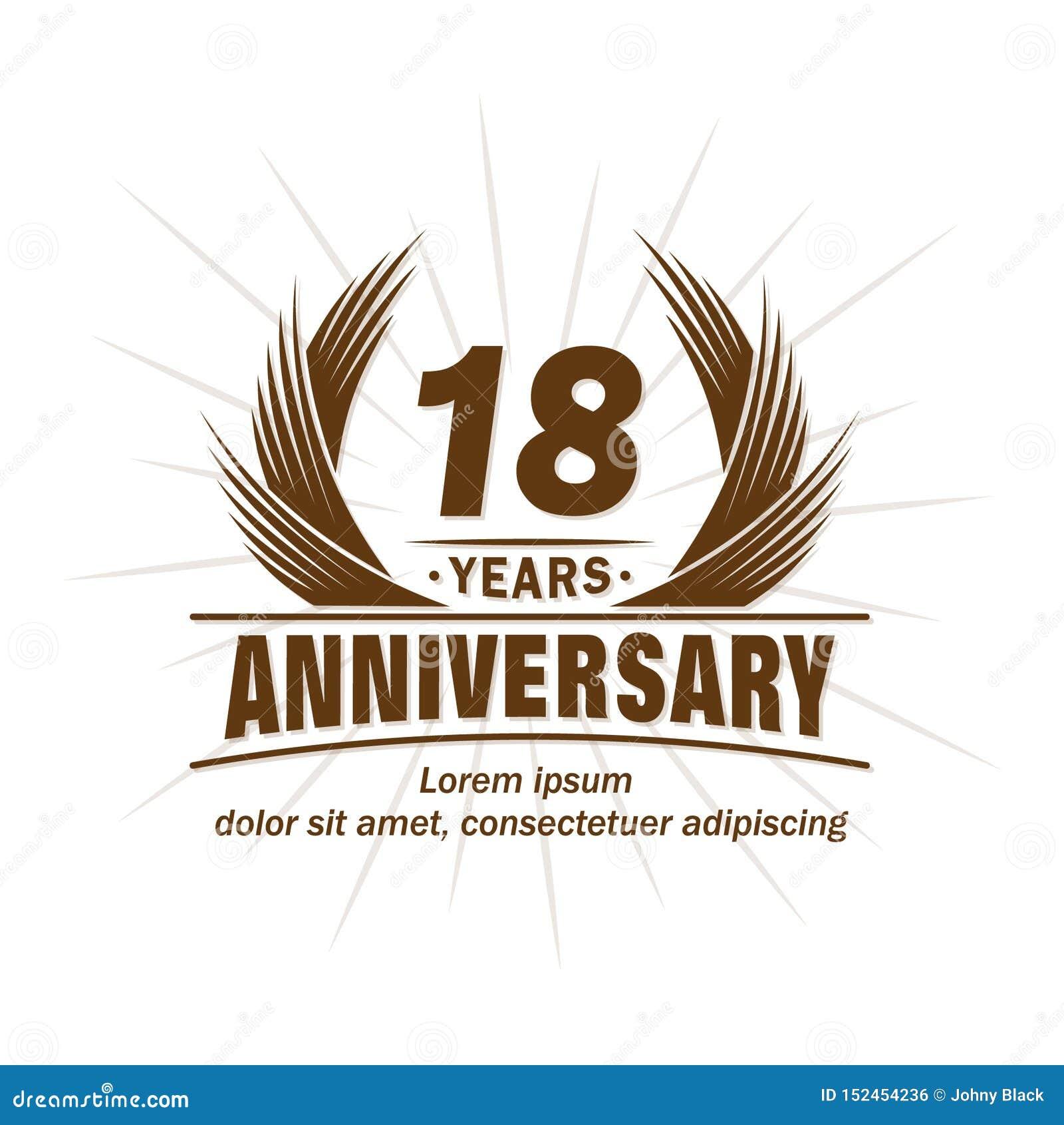 18 rok rocznicowych Elegancki rocznicowy projekt r