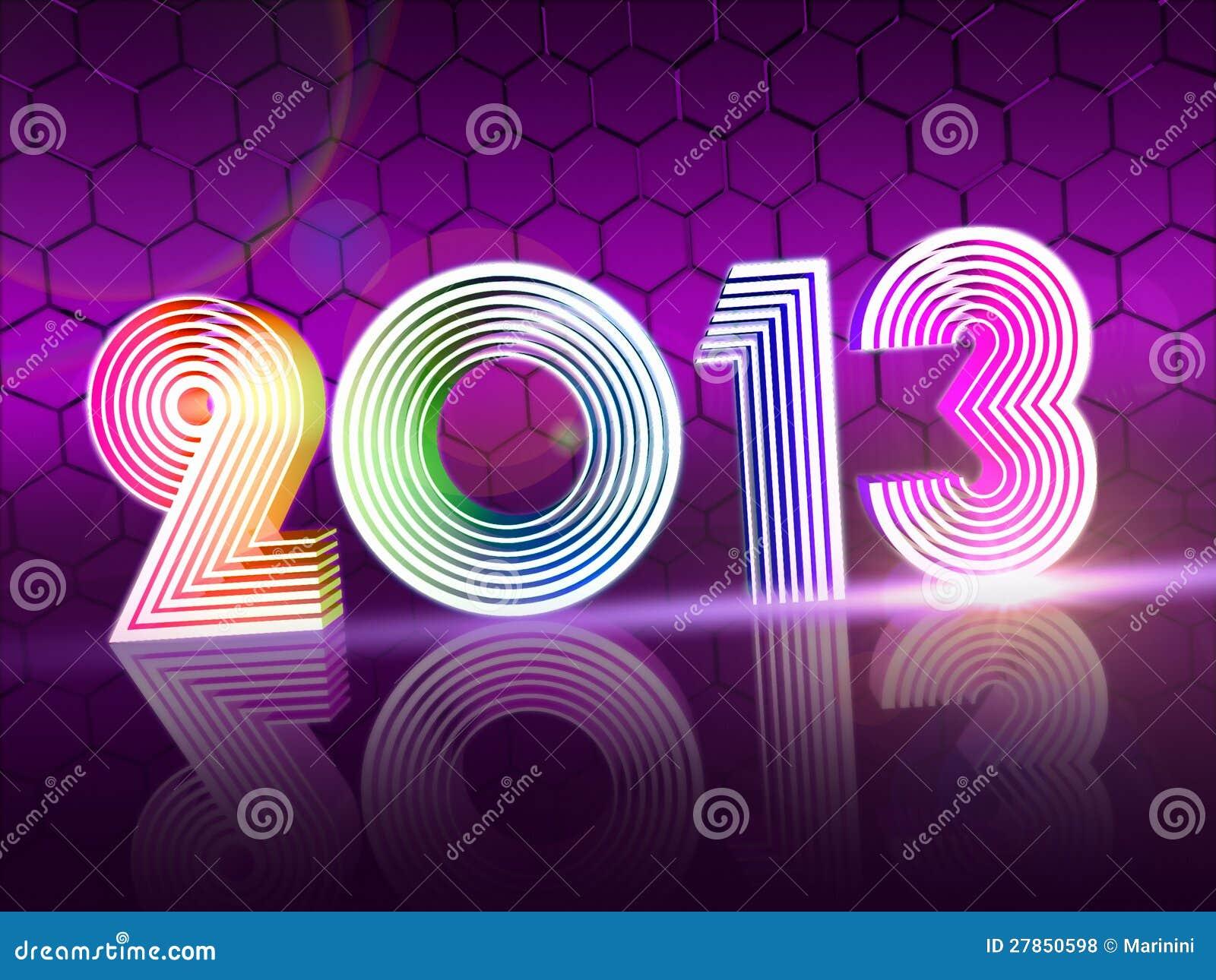 Rok w barwionych olśniewających postaciach 2013