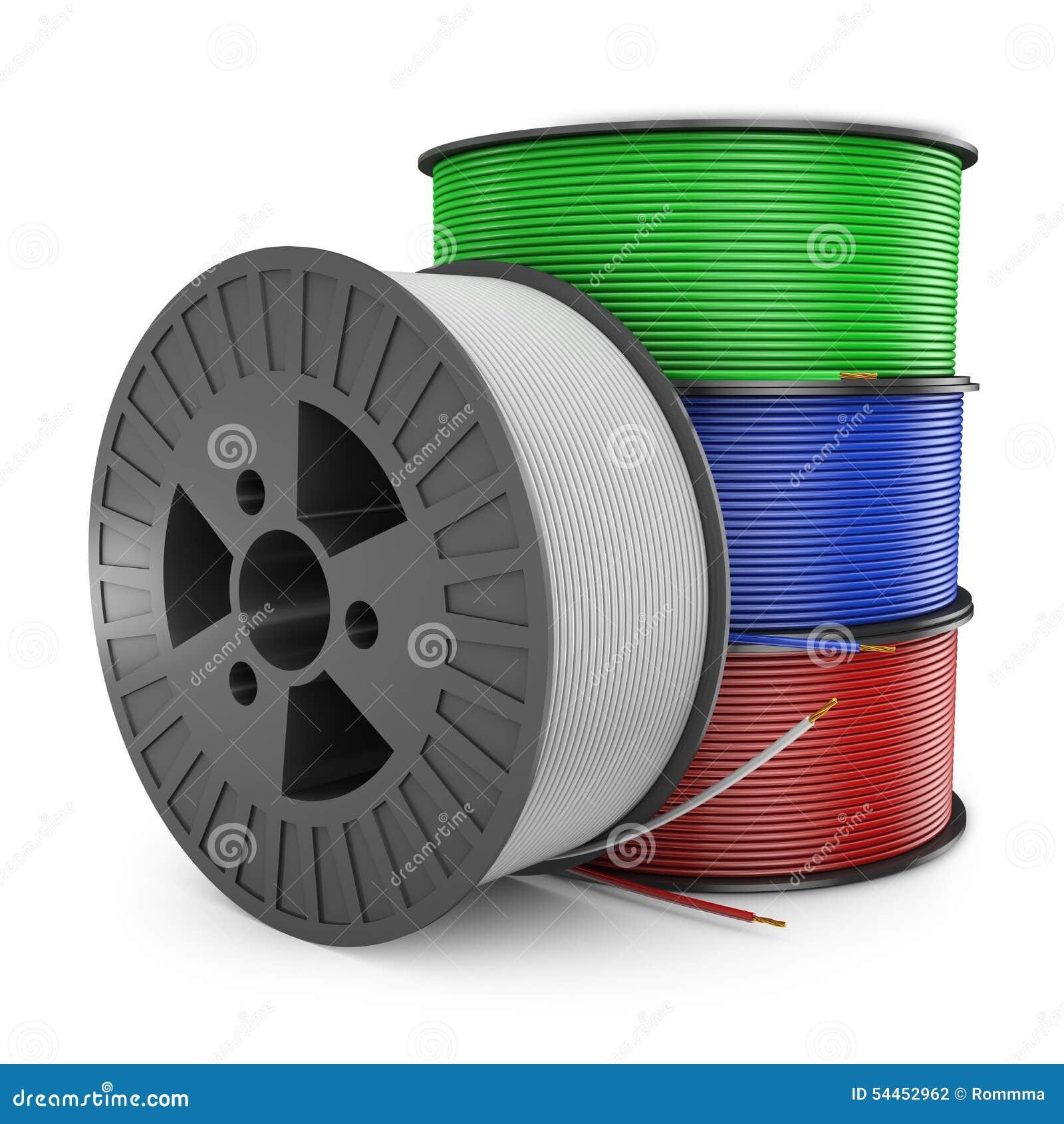 Rol Elektrische Draad Stock Illustratie Illustratie Bestaande Uit